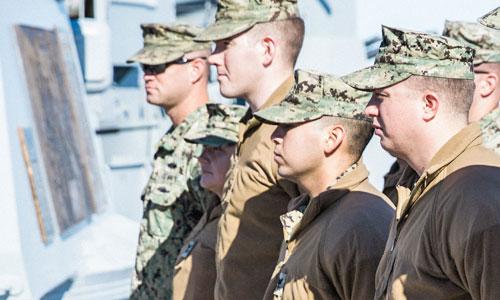 USS Alabama Battleship Military Ceremonies