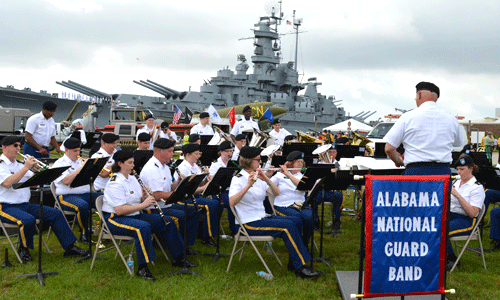 USS Alabama Blue Salute Event