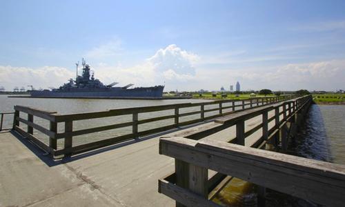 Fishing pier at USS Alabama Battleship Memorial Park