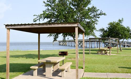 Picnic Area at USS Alabama Memorial Park