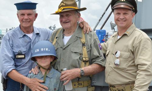 Living Crew at the USS Alabama Battleship Memorial Park