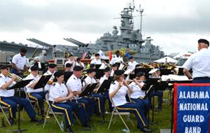 USS Alabama Battleship Memorial Blue Salute Event