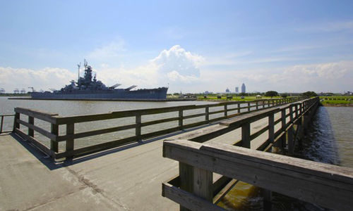 Fishing pier at USS Alabama Battleship Memorial Park
