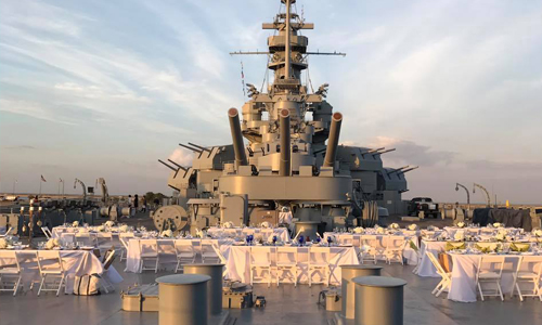 USS Alabama Battleship ship has several different venues for your next party