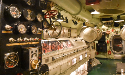 Inside the USS DRUM Submarine