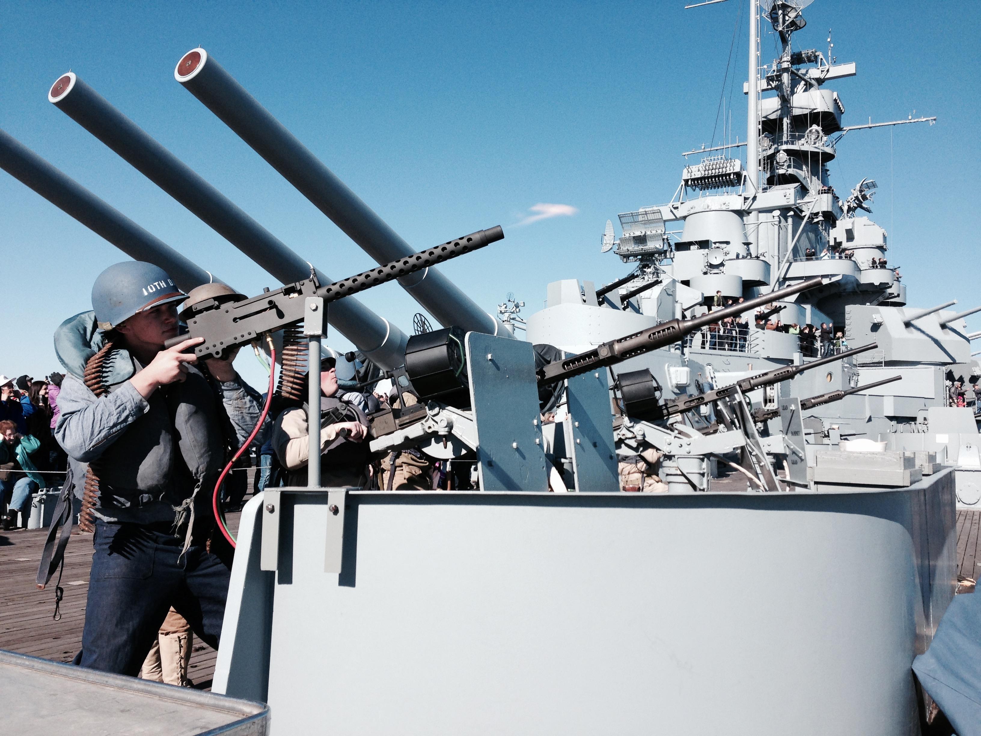 Living History Crew Drill Uss Alabama Battleship